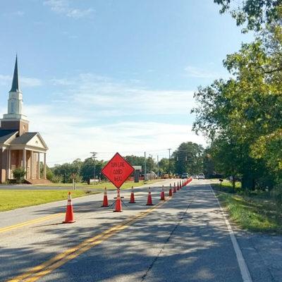 Turn Lane Closed Ahead Sign