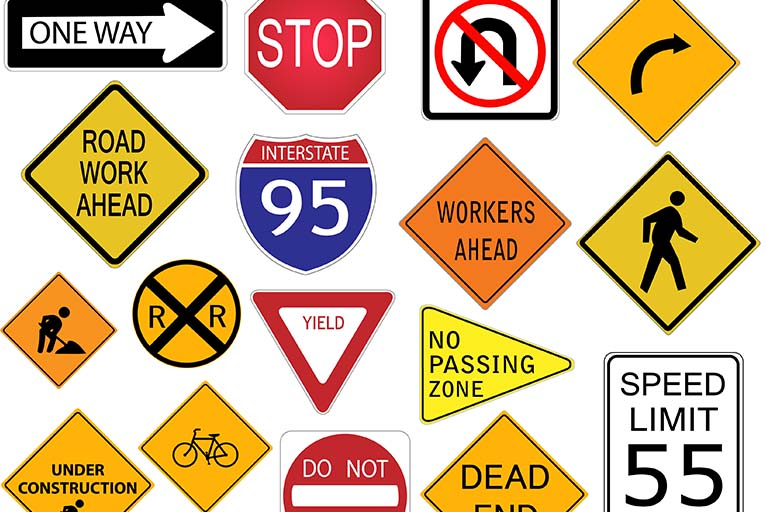 Bird Dog Traffic Control Traffic Road Signs