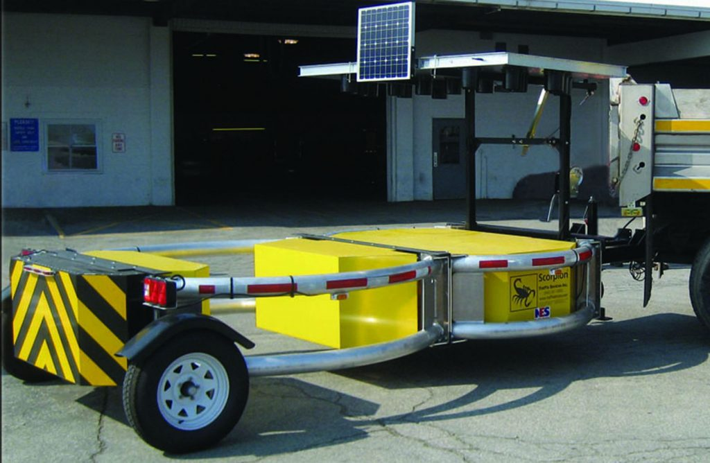Bird Dog Traffic Control - Equipment Rentals Scorpion Trailer Attenuator