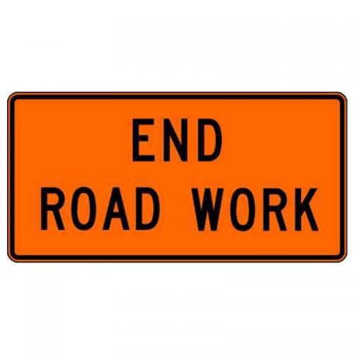 Bird Dog Traffic Control Sign End Road Work