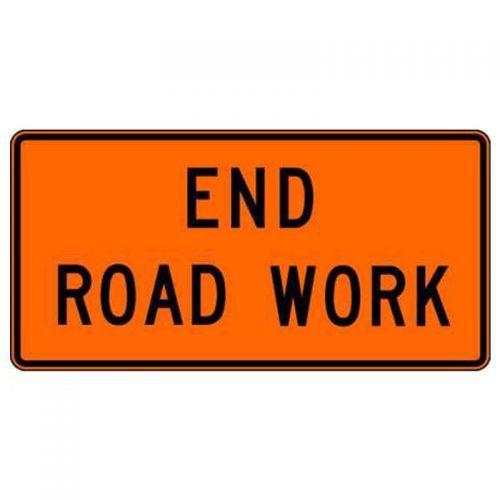Bird Dog Traffic Control Sign End Road Work