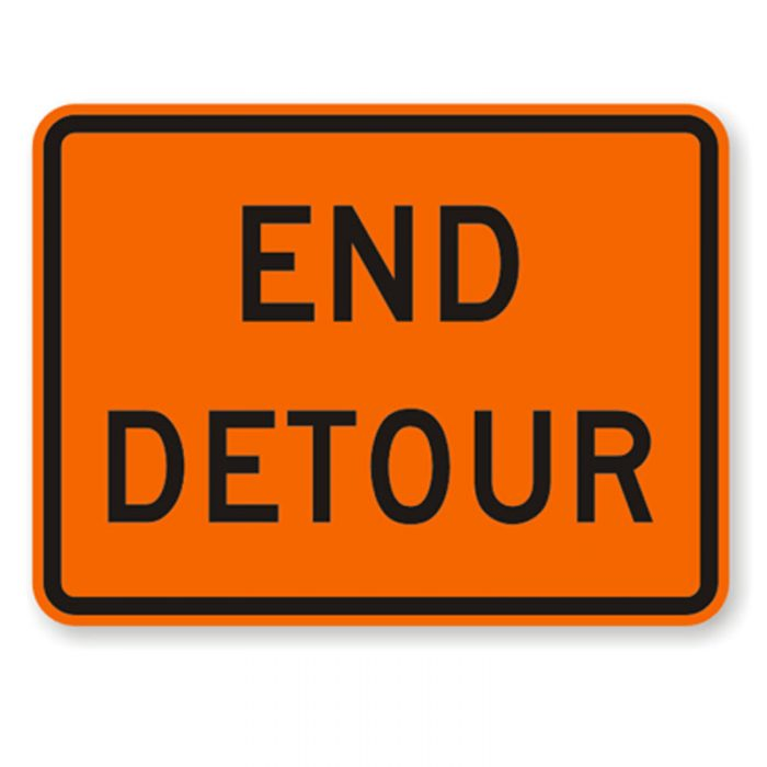 Bird Dog Traffic Control - End Detour Sign