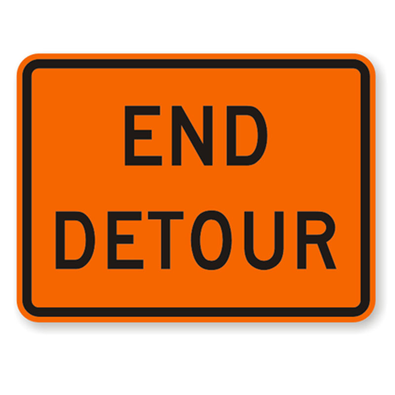 Bird Dog Traffic Control - End Detour Sign
