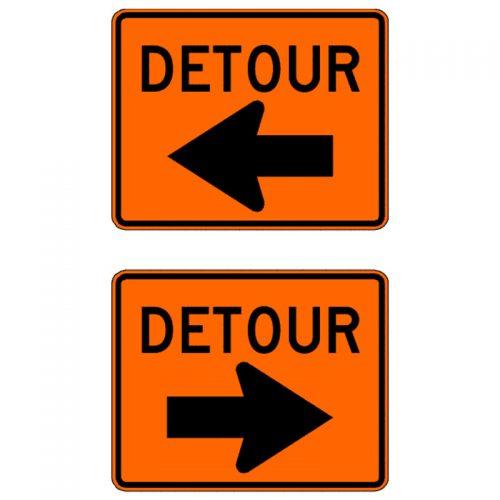 Bird Dog Traffic Control - Traffic Detour Sign
