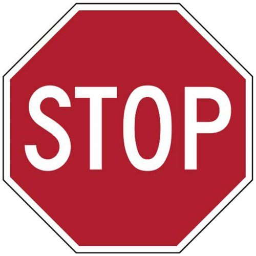 Bird Dog Traffic Control Sign Stop