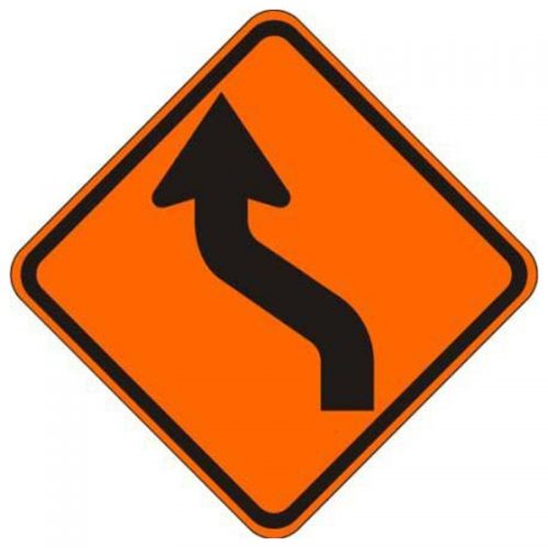 Bird Dog Traffic Control Sign Reverse Curve Left
