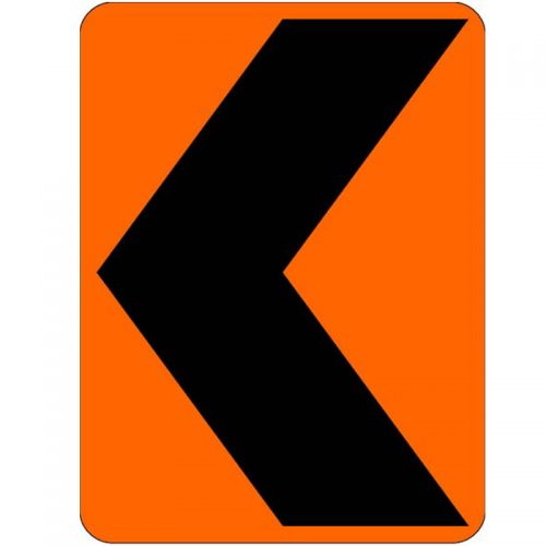 Bird Dog Traffic Control Sign Chevron Left