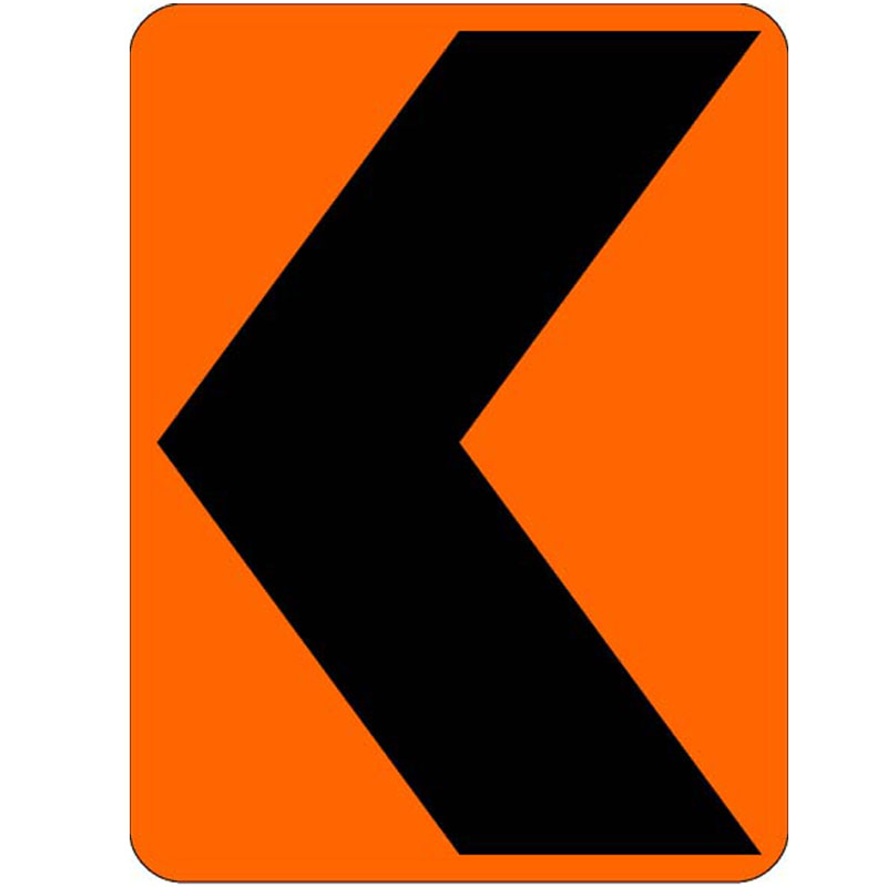 Bird Dog Traffic Control Sign Chevron Left