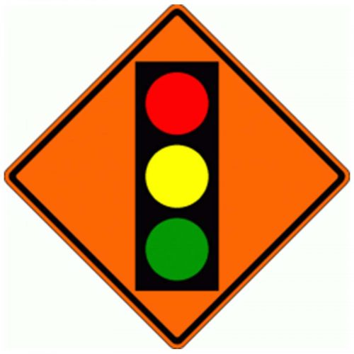 Bird Dog Traffic Control - Traffic Signal Ahead Ahead Sign