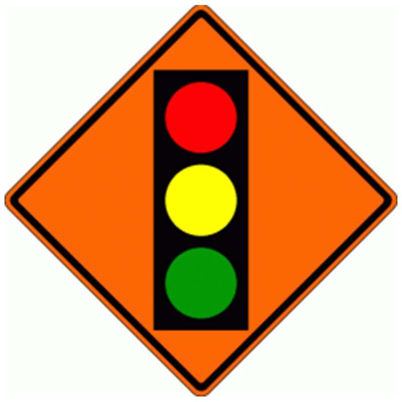Bird Dog Traffic Control - Traffic Signal Ahead Ahead Sign