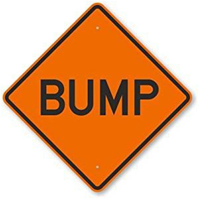 Bird Dog Traffic Control - Bump Sign