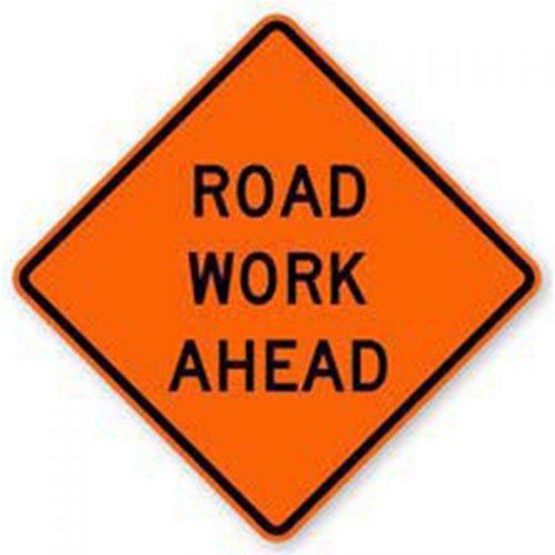 Bird Dog Traffic Control - Road Work Ahead Sign