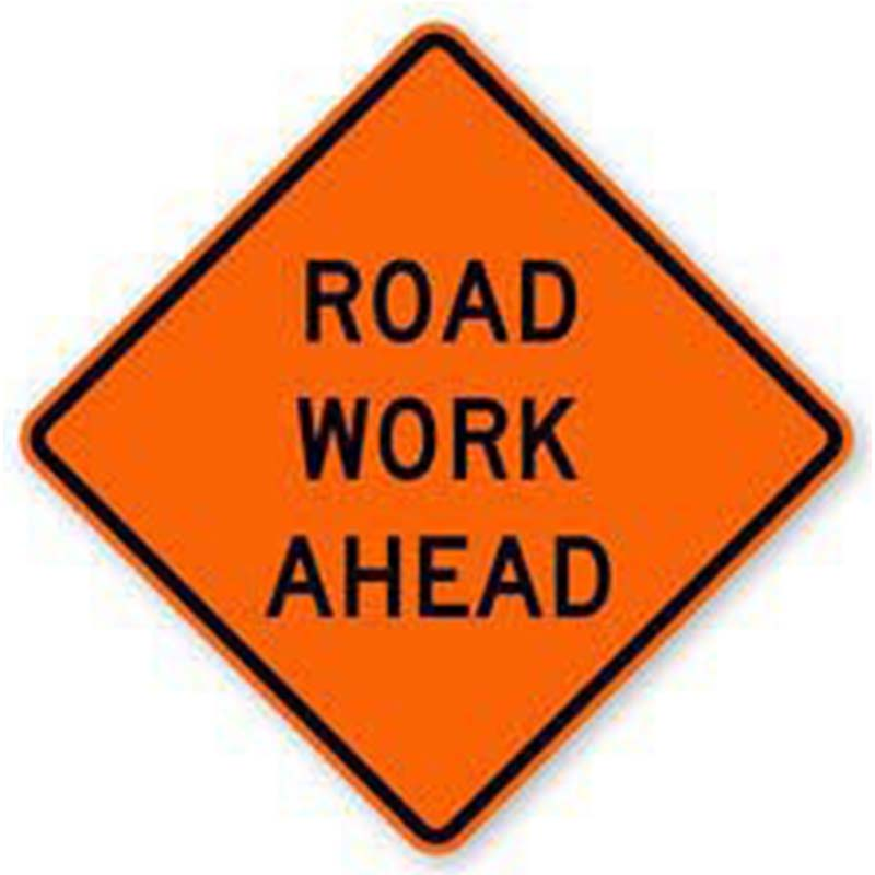 Bird Dog Traffic Control - Road Work Ahead Sign