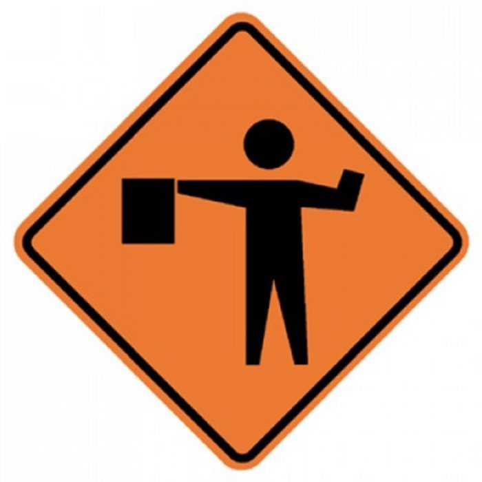 Bird Dog Traffic Control Sign Flagger Symbol