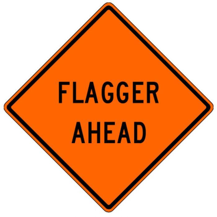 Bird Dog Traffic Control - Flagger Ahead Sign