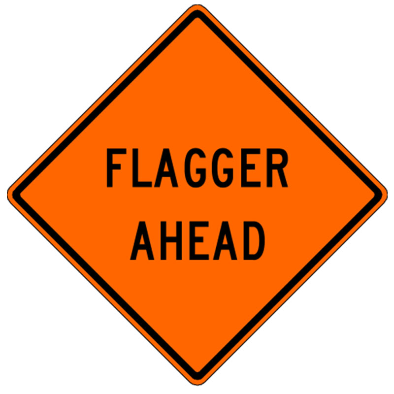 Bird Dog Traffic Control - Flagger Ahead Sign