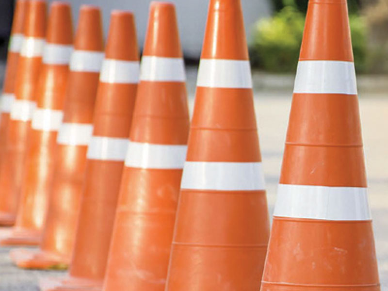 Traffic cones are available for rentals and purchase in Texas.