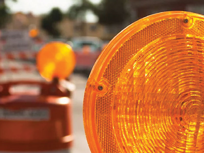 Traffic warning lights (orange) are available for rentals and purchase in Texas.